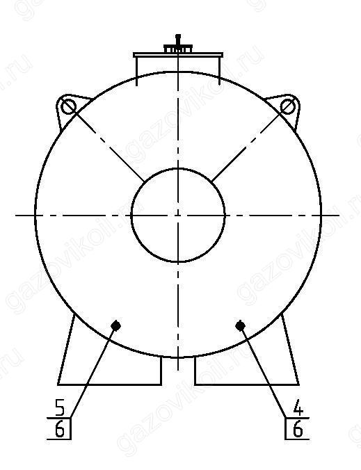 Горизонтальный стальной резервуар РГС 30 м3