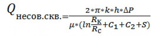 Дебит нефтяной скважины: определённый расчёт дебита скважины, формула нефти