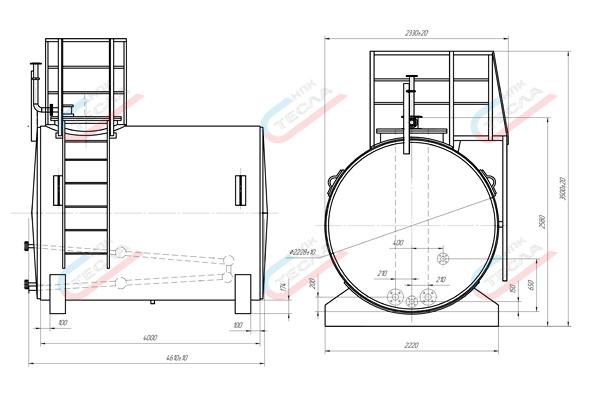РГС 15: описание подземного и наземного горизонтального стального резервуара